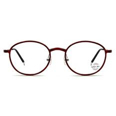 SUPER IDOL 輕細質感橢圓框眼鏡 ▏酒紅銅