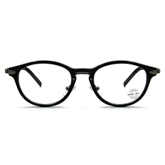 SUPER IDOL 古典波士頓橢圓框眼鏡 ▏亮黑/亮槍