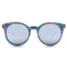 Helen Keller 夏日和風粉嫩寬版貓眼框 碎花藍