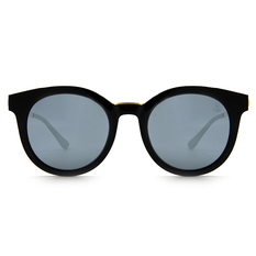 Helen Keller 復古典藏金架寬版貓眼框 金綴黑