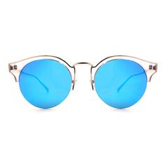 Helen Keller 祕密花園時尚銀鑽貓眼半框 藍透白