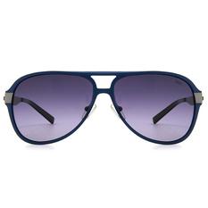 MINI 偏光太陽眼鏡 輕薄雙質飛官框│紳士藍