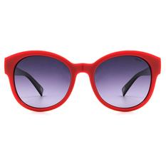 MINI 偏光太陽眼鏡 微貓眼魅惑款圓框│桃紅紫