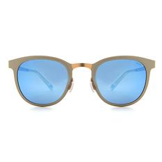 MINI 偏光太陽眼鏡 輕薄型夢幻微貓眼框│古銅白