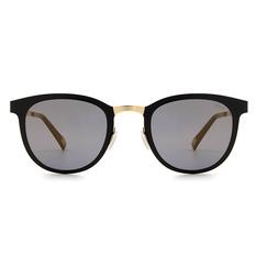 MINI 偏光太陽眼鏡 輕薄型紳士微貓眼框│香檳黑