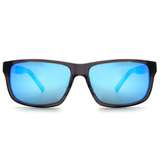 MINI 偏光太陽眼鏡 紳士雙質方框│透灰/削銀