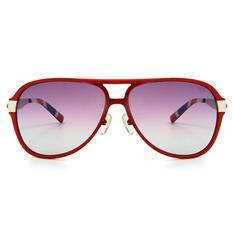 MINI 偏光太陽眼鏡 威靈頓雙質長方框│亮黑/霧銀