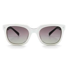 MINI 偏光太陽眼鏡 工業方格威靈頓框│白透亮