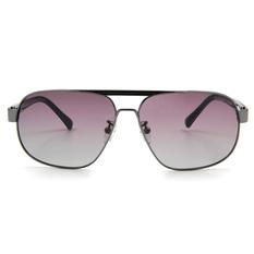 MINI 偏光太陽眼鏡 方格款飛官框│亮槍/亮黑