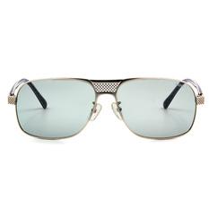 MINI 偏光太陽眼鏡 方格款飛官方框│銀-亮黑