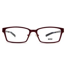 MINI 雙色線條薄型長方框│桃紅/黑