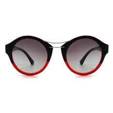 HORIEN 前衛設計雙彎槓貓眼圓框│漸黑紅