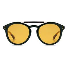 GUCCI 2018春夏新款 典藏哥德風徽紋雙色貓眼框✦墨石綠/玳瑁棕