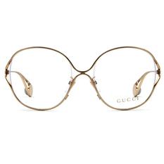 GUCCI 2018春夏新款 浪漫柔美珍珠飾徽時尚款-金屬圓框✦瑰麗金