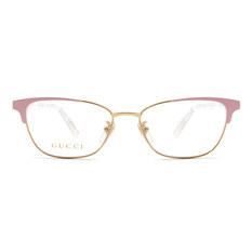 GUCCI 2018春夏新款 純粹優雅精緻眉型方框✦氣質粉/金