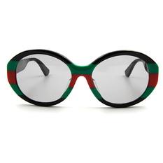 GUCCI 新潮復古夢 綠紅綠款橢圓框  ▏夢想黑