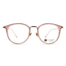 K-DESIGN K PLUS舒適彈力款◆韓風貓型魅惑精緻雙圈框 玫瑰粉