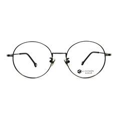 K-DESIGN K PLUS舒適彈力款◆巴洛克圖紋經典細圓框 鋼質黑