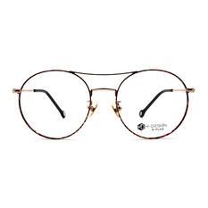 K-DESIGN K PLUS舒適彈力款◆羅曼史經典雙桿大圓框 絢麗紅/金
