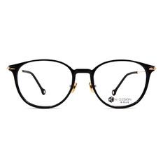 K-DESIGN K PLUS舒適彈力款◆原色極簡波士頓框 文青黑/鑄金