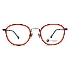 K-DESIGN K PLUS 舒適輕盈系列 ▏輕透微風復潮套圈框  旭日紅