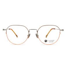 K-DESIGN K PLUS 舒適輕盈系列  ▏異想的世界拼色多邊框 向陽橙