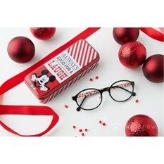 Disney Love米系列眼鏡盒♥俏皮鬼臉-紐約紅白