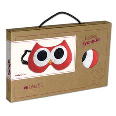 【德國萊思綺Leschi】舒緩疲勞熱敷/冷敷眼罩- 貓頭鷹造型 (橘紅色)