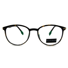RENDER 自然簡約復古威靈頓框眼鏡♦玳瑁黑/亮黑