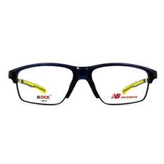 New Balance ELOCK 雙質交界N標眉框眼鏡✦極光藍/亮黃