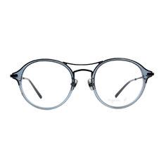 agnès b. 沉穩單桿貓眼套圈框 ◆灰綠