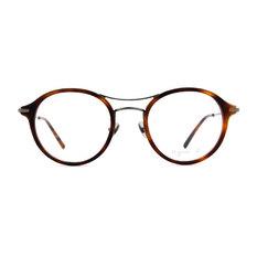 agnès b. 復古單桿貓眼套圈框 ◆玳瑁棕