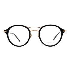 agnès b. 復古單桿貓眼套圈框 ◆柏金黑
