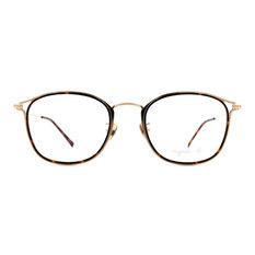 agnès b. 典藏精緻雙色套圈框 ◆ 玳瑁金