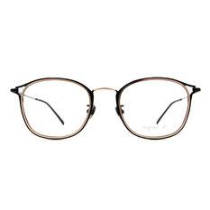 agnès b. 現代質感雙色套圈框 ◆ 銀黑