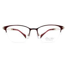 LineArt CHARMANT 簡約簍空設計眉架框◆紅梨色