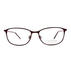CHARMANT β-鈦 迷彩視覺系長方框 ▏醇酒紅/紅彩