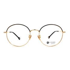 K-DESIGN K PLUS 眼眉的心弦波紋圓框◆金飾黑