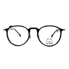 K-DESIGN | LINE FRIENDS◆微貓眼復古粗框-炭晶黑(熊大銀鑄)