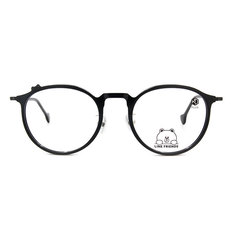 K-DESIGN | LINE FRIENDS◆微貓眼復古粗框-夜空黑(熊大銀鑄)