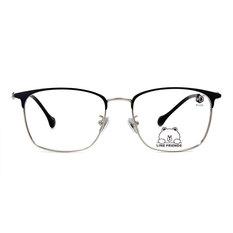 K-DESIGN | LINE FRIENDS◆中性眉方框-銀/霧光藍(熊大銀鑄)