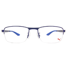 PUMA l 城市主義 眉型長方框眼鏡 l 太空藍