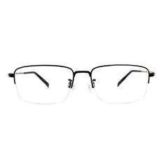 CHARMANT  透視曲線方型眉框 ▏金緻黑