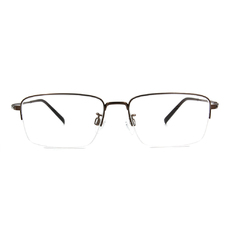 CHARMANT  透視曲線方型眉框 ▏古銅金