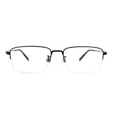 CHARMANT  透視曲線方型眉框 ▏藏青/銀