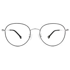 K-DESIGN KREATE 甜美撞色百搭圓框🎨 銀/霜白