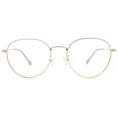 K-DESIGN KREATE 可愛拼色細圓框🎨 金/霧紫