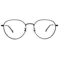 K-DESIGN KREATE 可愛拼色細圓框🎨 黑/薑黃
