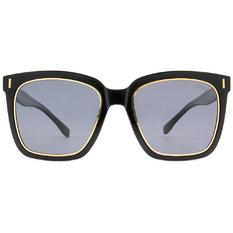 HORIEN 時尚酷炫大方框 ☀ 鑲金黑