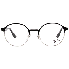 Ray Ban | 時尚圓半框 亮黑